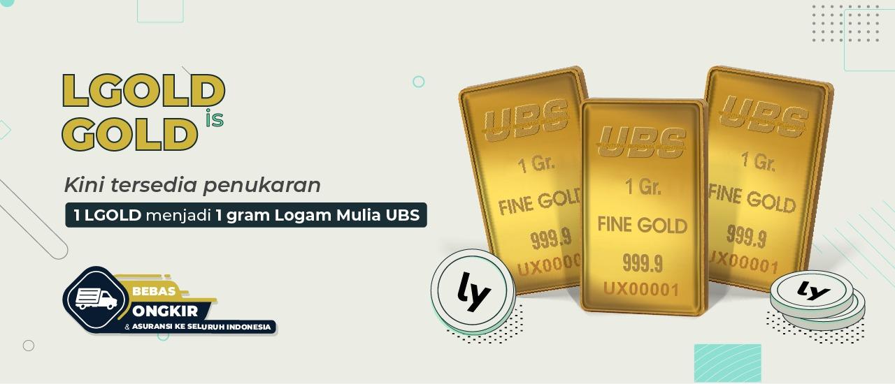 LGOLD adalah emas promosi penukaran 1 gram