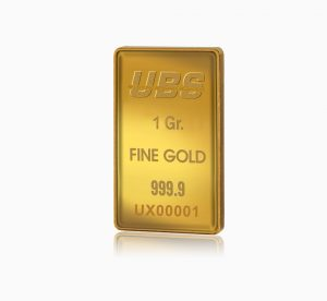 Certified Fine Gold Bar UBS 1 Gram