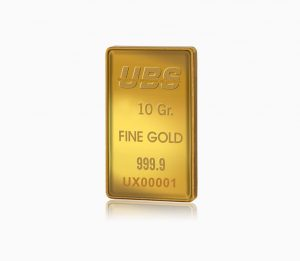 Certified Fine Gold Bar UBS 10 gram
